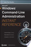 Windows Command Line Administration Instant Reference Book PDF