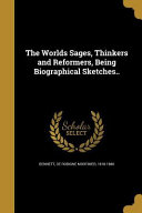 Worlds Sages Thinkers Reform