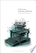 D  H  Lawrence  Technology  and Modernity Book