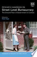 Research Handbook On Street Level Bureaucracy