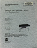 Integration Issues of a Plasma Contactor Power Electronics Unit