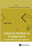 Lecture Notes In Investment  Investment Fundamentals