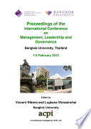 ICMLG2013 Proceedings of the International Conference on Management, Leadership and Governance