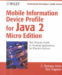 Mobile Information Device Profile for Java 2 MicroEdition Book