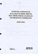 Pdf Lignes directrices de l'OCDE pour les essais de produits chimiques Lignes directrices de l'OCDE pour les essais de produits chimiques Onzième addendum juin 2000 Telecharger