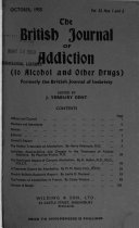 The British Journal of Addiction (to Alcohol and Other Drugs)