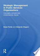 Strategic Management In Public Services Organizations Book PDF