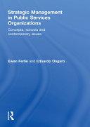 Strategic Management in Public Services Organizations Pdf/ePub eBook