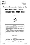 Tentative Recommended Practice for the Protection of Library Collections