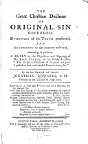 The Great Christian Doctrine of Original Sin Defended ebook