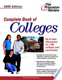 """Complete Book of Colleges, 2005"" by Princeton Review"