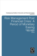 Risk Management Post Financial Crisis