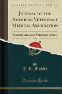Journal Of The American Veterinary Medical Association Vol 9