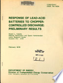 Response of Lead acid Batteries to Chopper controlled Discharge