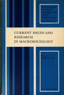 Current Issues and Research in Macrosociology