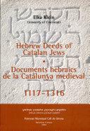 Documents Hebraics de la Catalunya Medieval
