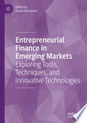 Entrepreneurial Finance in Emerging Markets