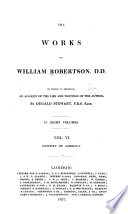 The Works of William Robertson  D  D    Book