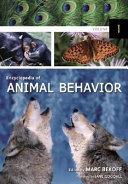 Encyclopedia of Animal Behavior  A C