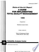 A Guide for Implementing Total Quality Management Book
