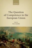Pdf The Question of Competence in the European Union Telecharger