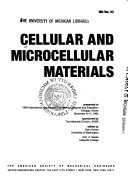 Cellular and Microcellular Materials