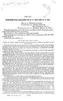 Subcommittee Hearings on H R  4910 and H R  4911