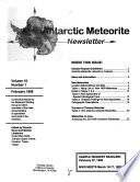 Antarctic Meteorite Newsletter