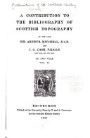 Publications of the Scottish History Society Book