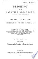 Brighton and its sanative resources  comprising a special reference to the German Spa Book