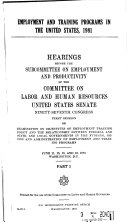 Employment and training programs in the United States  1981