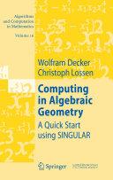 Computing in Algebraic Geometry [Pdf/ePub] eBook