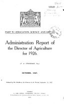 Administration Report of the Director of Agriculture