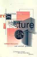 Pdf Reconstructing Architecture