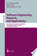 Software Engineering Research and Applications Book