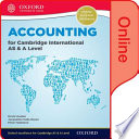 Accounting for Cambridge International AS and a Level Online Student Book