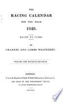 The Racing Calendar 1849