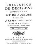 Collection de décisions nouvelles et de notions relatives à la jurisprudence