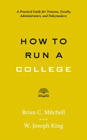 How to Run a College [Pdf/ePub] eBook