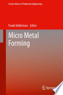 Micro Metal Forming Book