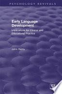 Early Language Development