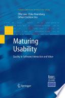 Maturing Usability Book PDF