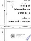 Catalog of Information on Water Data