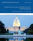 American Social Welfare Policy Enhanced Pearson Etext Access Card Book PDF