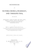Handbook of Materia Medica, Pharmacy, and Therapeutics
