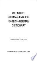 Webster's German-English English-German Dictionary