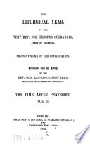 The liturgical year  tr  by L  Shepherd  Continuation  by L  Fromage