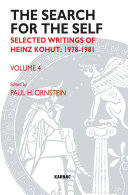 The Search for the Self: Selected Writings of Heinz Kohut ...