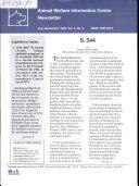 Animal Welfare Information Center newsletter