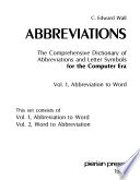 Abbreviations: Abbreviation to word